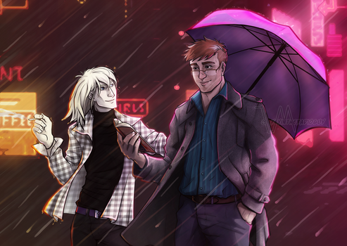 Raining neons by kevintheradioguy