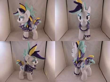 MLP Punk Rarity Plush (commission) by Little-Broy-Peep