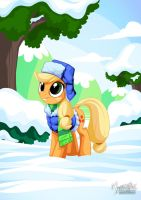 Applejack Winter by mysticalpha