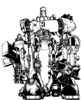 This Robot WILL kick your ASS by ckirkillustr8