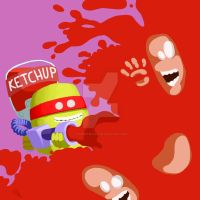 Attaque au ketchup by TrucEtBidule