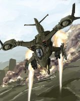 Gunship by TheDrowningEarth