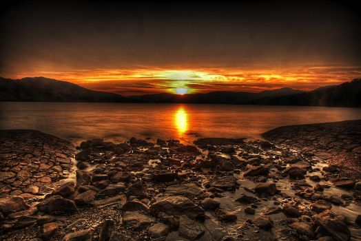 Loch Sunset by Hamrani