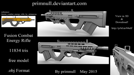 Fusion Combat Energy Rifle by primnull