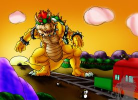 Bowser vs. Fawful Express by Jargon1993