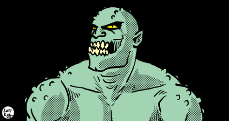 Killer Croc by LarryKingUndead
