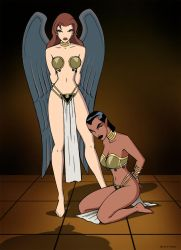 Hawkgirl and Katma Tui by extro