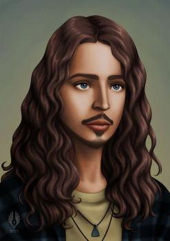 Chris Cornell by yoctoparsec