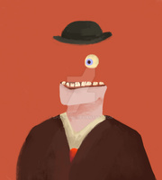 man in hat by beatled