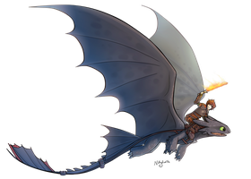 Httyd 2 Hiccup and Toothless by MatildaDavidson
