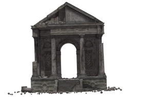 Building - Temple Of Megaera Ruins 03 by Free-Stock-By-Wayne