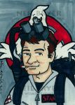 Ghostbusters Sketch Card Ray by WombatOne