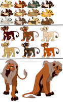 Lion cub point adopts (STILL AVAILABLE) by Wonderlandawaitsus