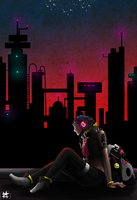 Neon City by MidnightZone