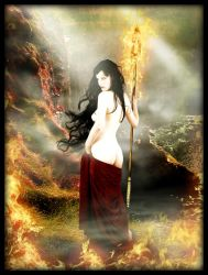 Nihilistic Goddess of Flame by MD-Arts