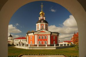 Trinity-Sergius Varnitsky Monastery, morning by Nickdan