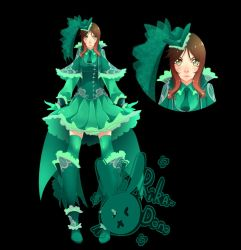 Gunner Of Green Roses Design by rika-dono