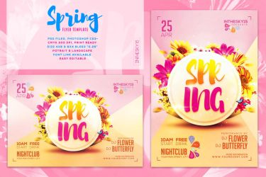 Spring Flyer Template by ranvx54