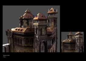 Fantasy castle progress by AuDreee