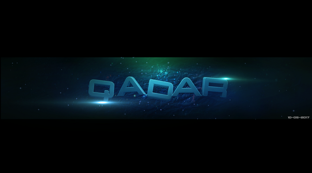 Qadar 3D Banner Text by rekuza4