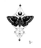 Dotwork Moth by penelopepro
