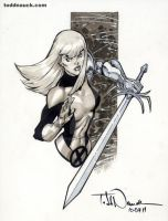 Magik New Mutants grayscale 1 by ToddNauck