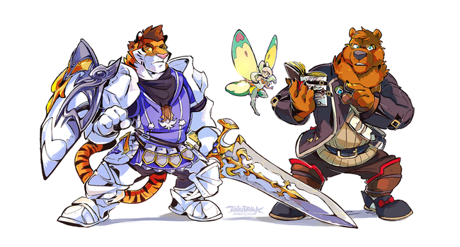 Final Fantasy: Paladin and Scholar by super-tuler