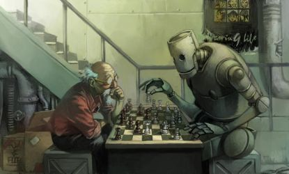 play chess with robot by cuson
