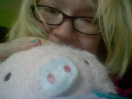 Me and my piggy by ZombiexFood