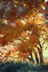 fall tree study by snowsoulls