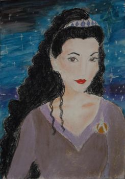 Portrait of counselor Deanna Troi by Winxhelina