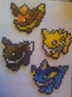 Eeveelution Bead Sprites by Illogicat