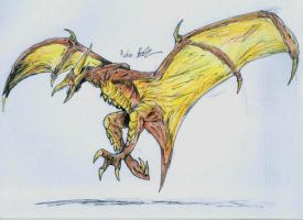 Rodan by hewhowalksdeath