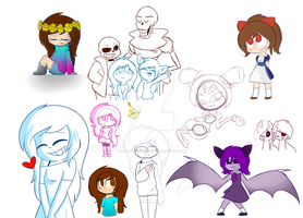 Doodles Compilation by CandyAICDraw