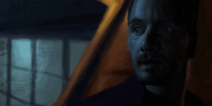 Michael Fassbender study from a movie. by Christian223