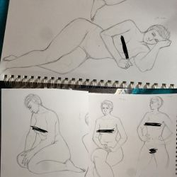 Life Drawing Sketches (censored) by LunaLuzz