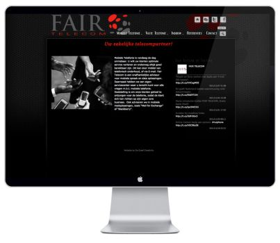 Fair Telecom website by DeGraafCreativity