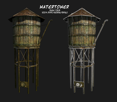 Watertower: Low Poly by Lussi