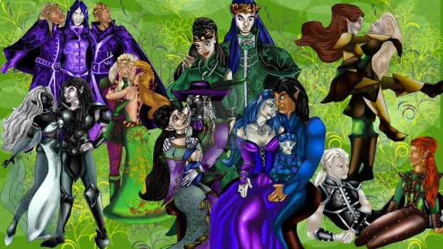 The Autumn Leaf Clan and friends by Elvish-Designs