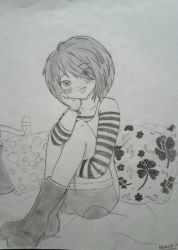 Girl in love ( an old drawing) by popinat