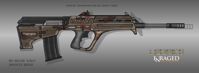 Fictional Firearm: HC-AR43k [Gaia] Assault Rifle by CzechBiohazard