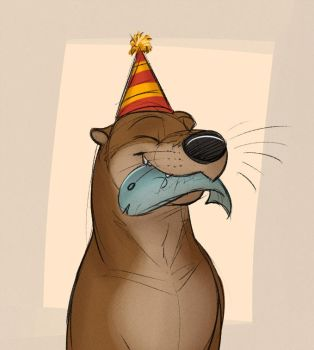 Birthday Otter by Temiree