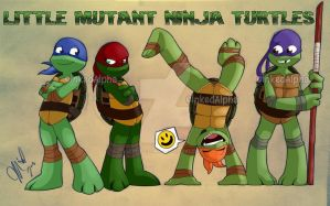 Little Mutant Ninja Turtles by Inked-Alpha