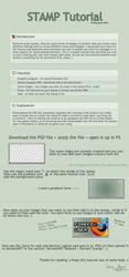 dA STAMP TUTORIAL WITH  .PSD by rJoyceyy