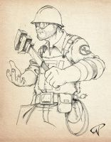 Team Fortress 2 - Engineer by Kalel06