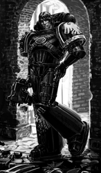 Raven Guard space marine by LynxC