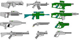 A collection of weapons by scifibug