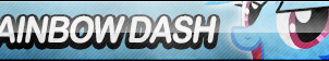 Rainbow Dash Button (Resubmit) by ButtonsMaker