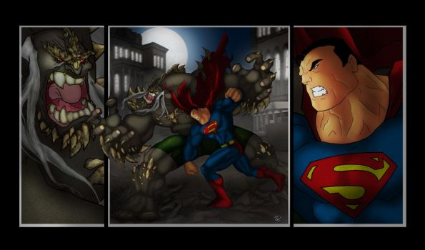 Superman VS Doomsday by Helmsberg