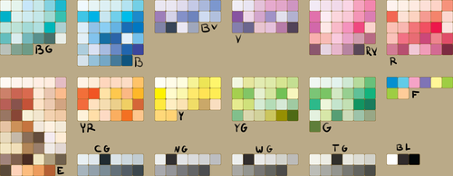 Copic Sketch Color Palette by HihiKoala